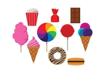Free Sweet Food Colorful Vector - vector gratuit #443689