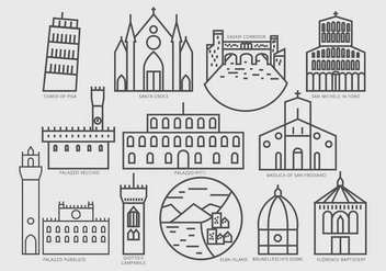 Pictogram of Interesting Places at Tuscany - бесплатный vector #443919