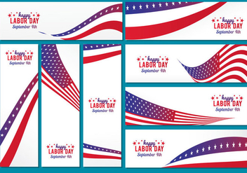 Labor Day Banner Vector - Free vector #443939