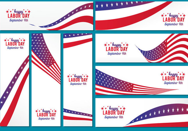 Labor Day Banner Vector - vector #443939 gratis