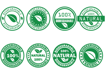 Biodegradable Vector Stamp - Kostenloses vector #443969