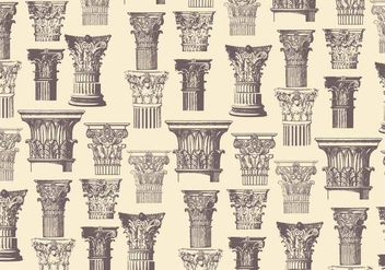Corinthian Pattern Classic Vector - Free vector #443999