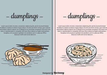 Dumplings Vector Background Set - бесплатный vector #444059