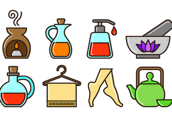 Set Of Beauty Clinic Icons - Free vector #444089