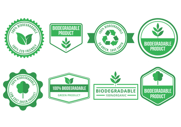 Biodegradable Vector Badges Collection - vector #444119 gratis