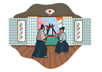 Free Dojo Vector Illustration - Free vector #444129