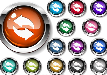 Vector Update Icon Buttons - Free vector #444169