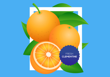 Free Clementine Vector Background - vector gratuit #444229
