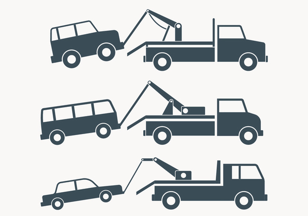 Towing Truck Simple Illustration - Free vector #444239