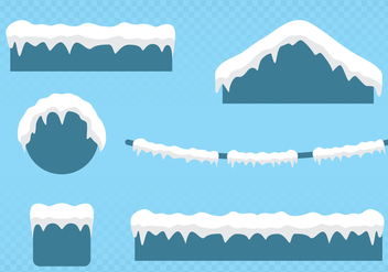 Snow On The Roof - vector gratuit #444259