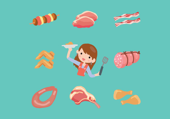 Let's Cook Some Meat! - Free vector #444269