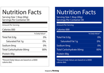 Nutrition Facts Editable Labels - vector gratuit #444429