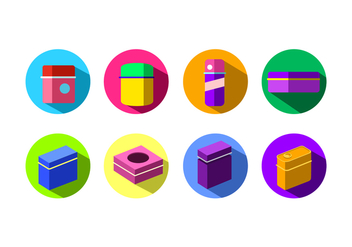 Flat Icon Tin Box Free Vector - Kostenloses vector #444449