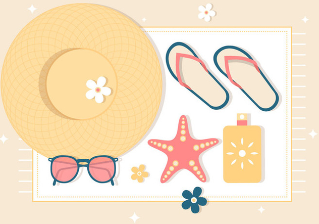 Free Summer Vacation Background - vector gratuit #444459