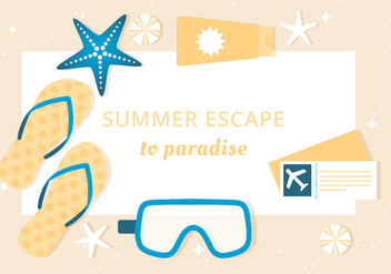 Free Summer Vacation Background - Free vector #444559