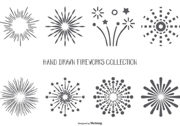 Hand Drawn Style Fireworks Shapes Collection - Free vector #444589