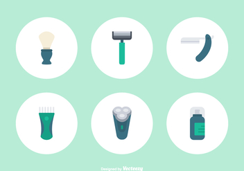 Flat Shaver Vector Icons - Kostenloses vector #444599