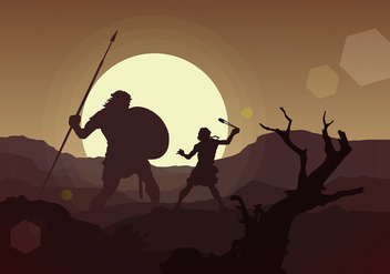 David and Goliath Free Vector - бесплатный vector #444639