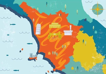 Tuscany Map Vector - бесплатный vector #444649