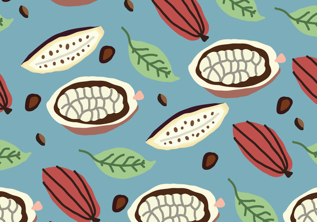 Colorful Cocoa Pattern - vector gratuit #444659