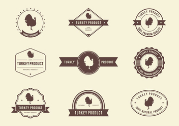 Turkey Product Label Vector - бесплатный vector #444669