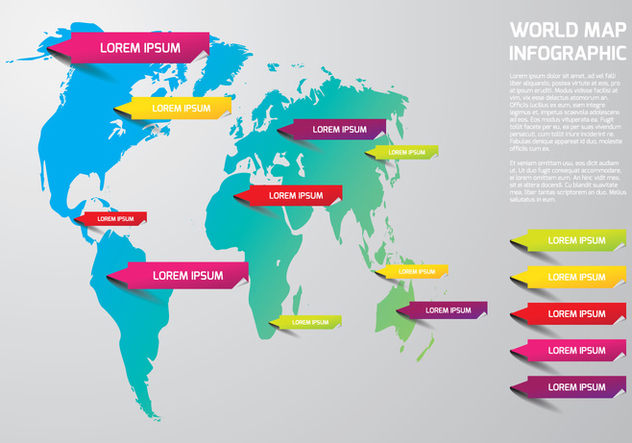 World Map Template - vector #444739 gratis