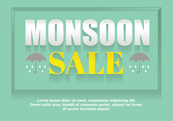 Monsoon sale poster - Free vector #444749