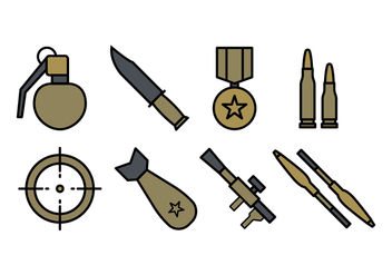 Army Icon Pack - vector gratuit #444779