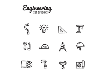 Set Of Engineering Icons - vector gratuit #444809