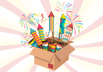 Noise Maker Firework Vector Illustration - Free vector #444819