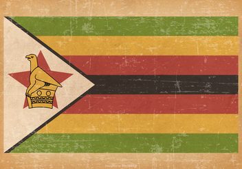 Grunge Flag of Zimbabwe - бесплатный vector #444829