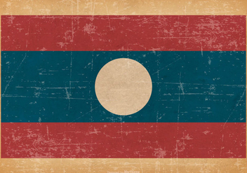 Old Grunge Flag of Laos - vector #444959 gratis