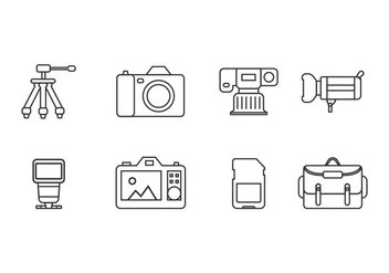 Photography tool icons - vector gratuit #444979