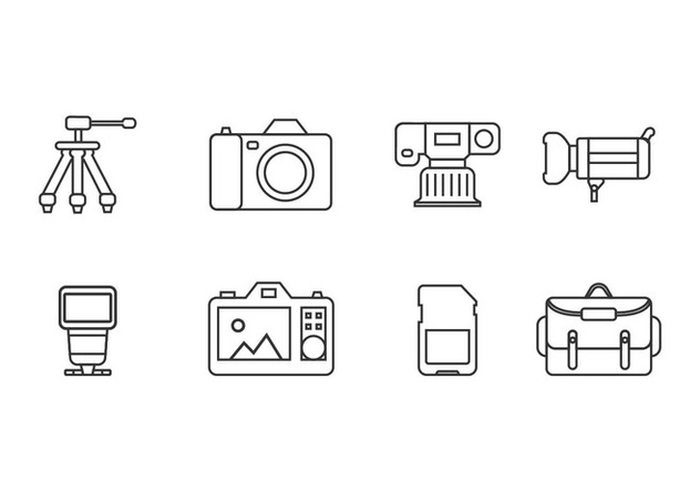 Photography tool icons - Free vector #444979