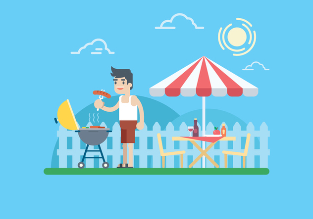 Summer Barbecue Illustration - Kostenloses vector #444999