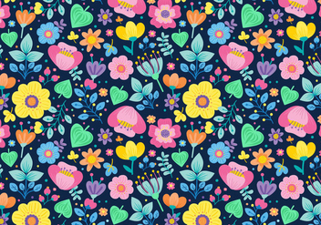 Seamless Ditsy Floral Pattern - Free vector #445019