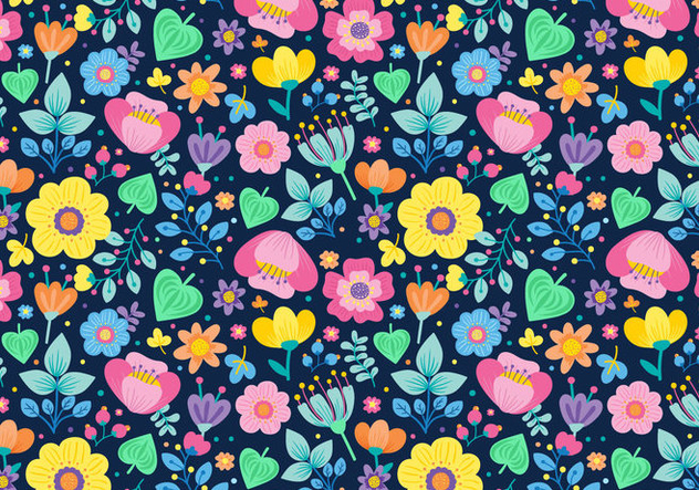 Seamless Ditsy Floral Pattern - Kostenloses vector #445019
