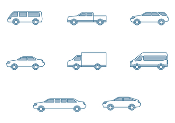 Modern Cars Icons - vector #445029 gratis