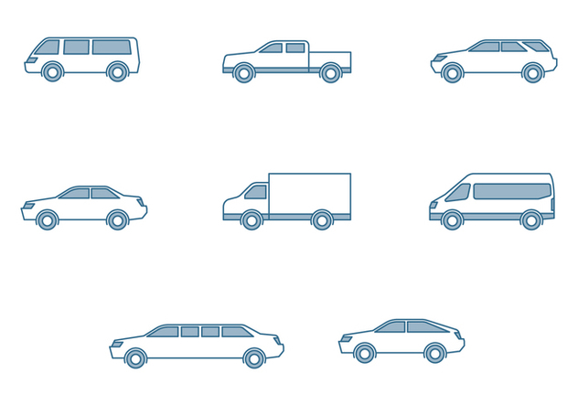 Modern Cars Icons - Free vector #445029