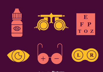 Optical Element Icons Vectors - vector #445089 gratis