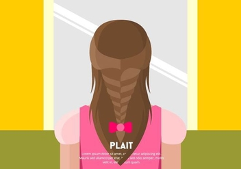 Girl with Plait Background Vector - Free vector #445109