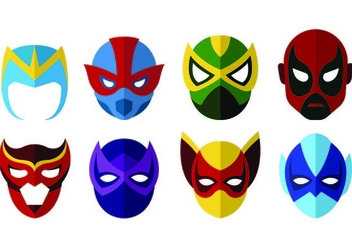 Vector Of Super Hero Masks - бесплатный vector #445149