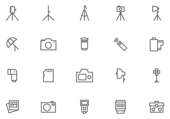 Camera and Photography Equipment Vectors - бесплатный vector #445159