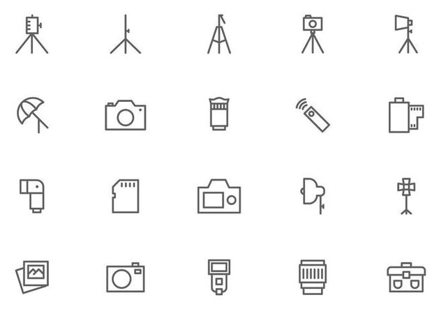 Camera and Photography Equipment Vectors - Free vector #445159