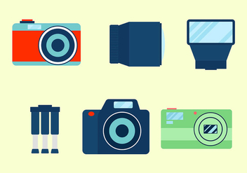 Camera Icon Vector - Kostenloses vector #445169