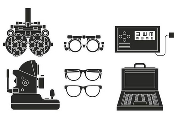 Eye Test vector set - vector gratuit #445179