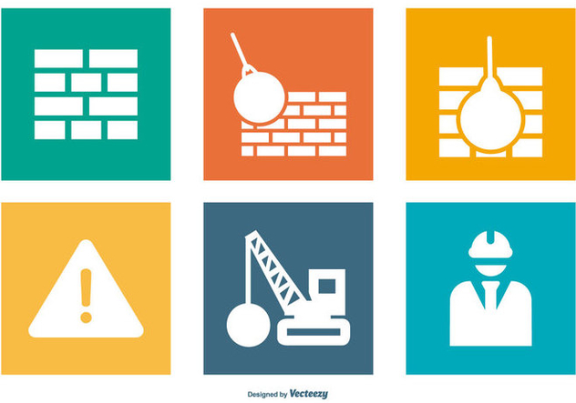 Construction/Demolition Icon Collection - vector #445209 gratis