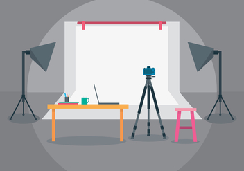 Photo Studio Illustration - vector #445259 gratis