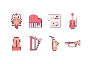 Classical Music Icons - Free vector #445269