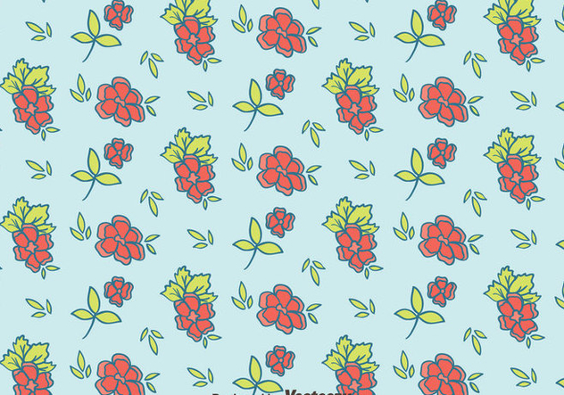 Hand Drawn Ditsy Floral Pattern Vector - бесплатный vector #445319